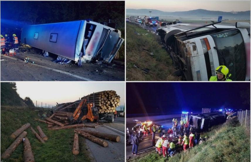 МНР потврди: Осум македонски државјани повредени во тешката сообраќајка во Австрија