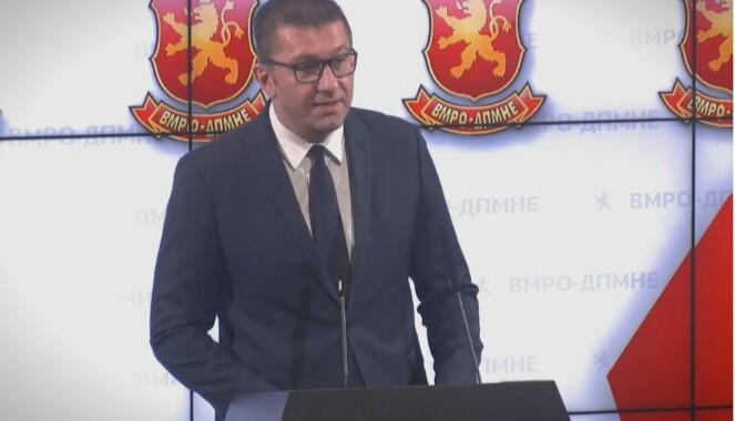 Мицкоски: По капитулацијата со името, Заев најавува капитулација во економија, истите лаги