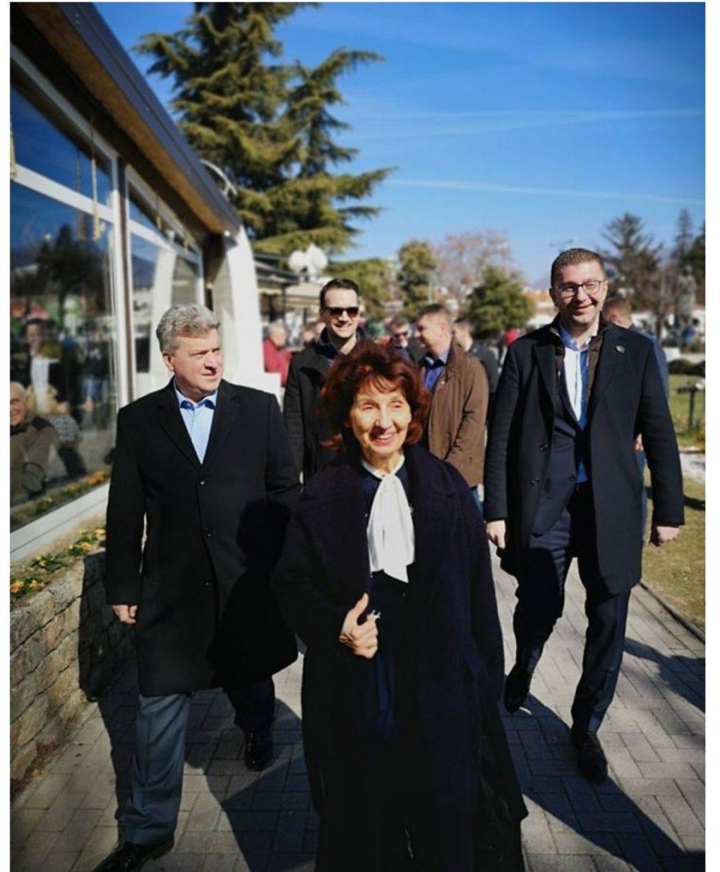 Сите барате надеж работите да се вратат во нормала: Силјановска во Охрид со Иванов и Мицкоски (ФОТО)