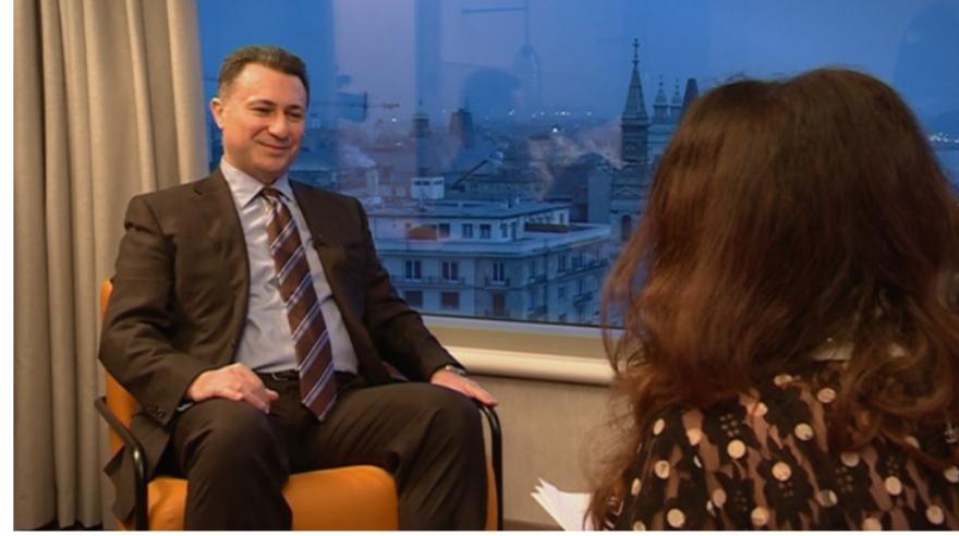 Груевски за Пинк: Политичкиот прогон е срам за Македонија