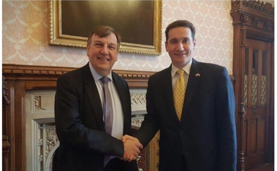 Ѓорчев на средби во парламентот на Велика Британија и Домот на лордовите