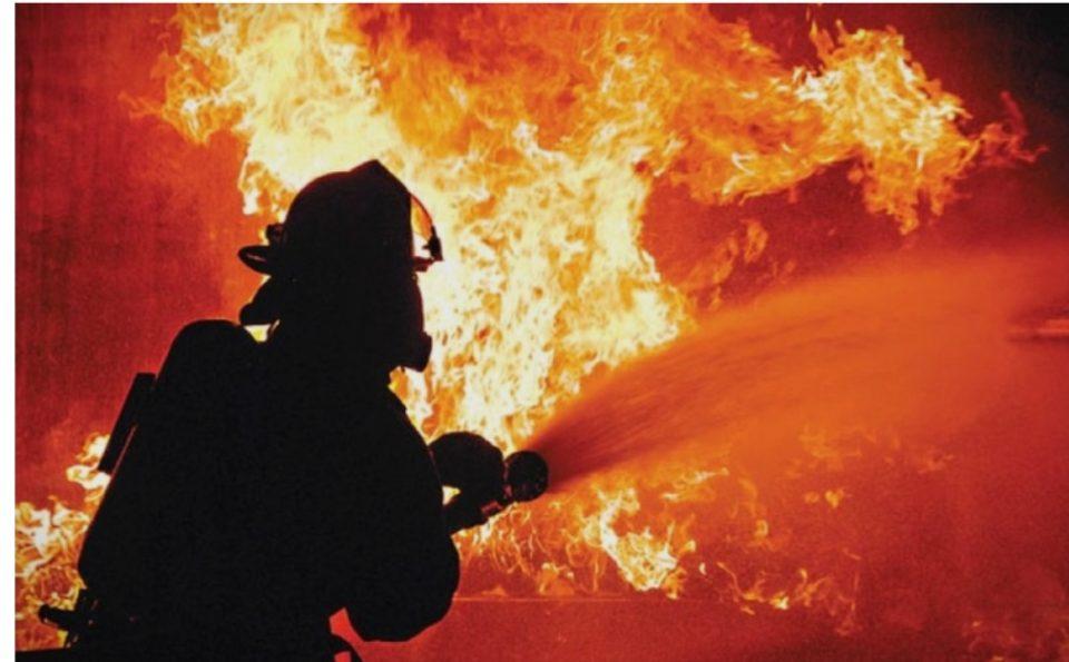 Пожар во близина на полигонот на АРМ-Криволак