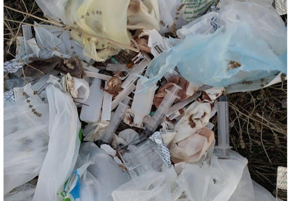 Медицински отпад расфрлан во околината на Охрид (ФОТО)