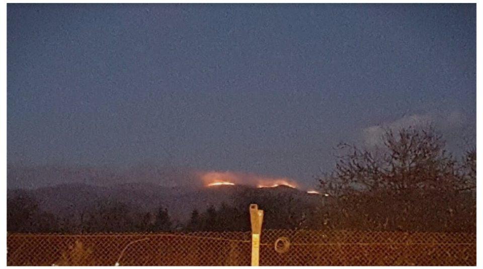 Детали за пожарот кај Скопска Црна Гора (ФОТО)