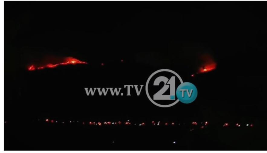 """ВИДЕО: Пламените јазици брзо се шират- """"беснее"""" пожарот на Скопска Црна Гора"""