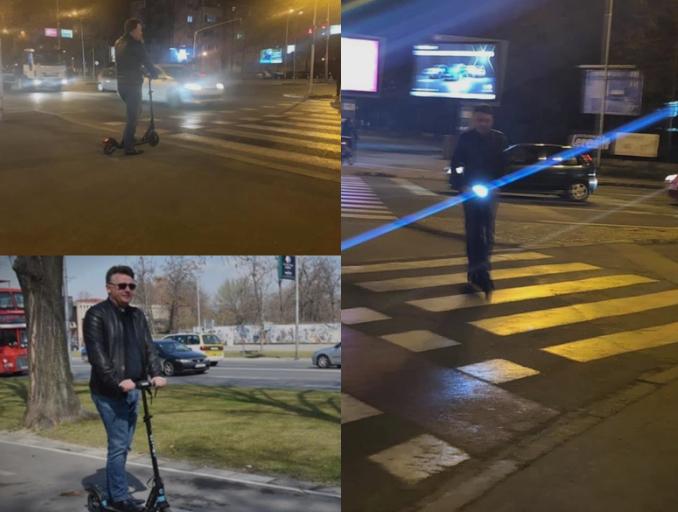 Шилегов и дење и ноќе на тротинет: Граѓаните со прашања колку ги плаќа репортерите за оваа хит фотосесија (ФОТО)