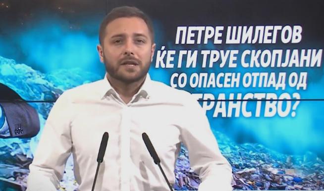 Арсовски: Бизнис интересите на Шилегов очигледно му се поважни, отколку здравјето на граѓаните на Скопје