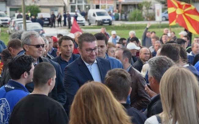 Мицкоски: Граѓаните треба да бидат гласни против лагите, корупцијата и нечесните политичари, наспроти честитоста, искреноста и принципиелноста
