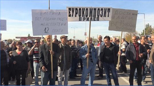 Заев ги излажа вработените од Еурокомпозит. Ќе се поставуваат шатори пред влада