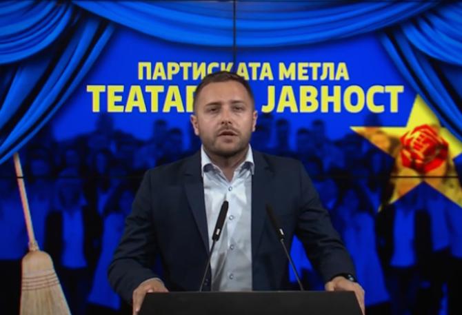 Арсовски: Заев нетранспарентно и недемократски постави партиски послушници за да добие поддршка за криминалот и ограбувањето на државата
