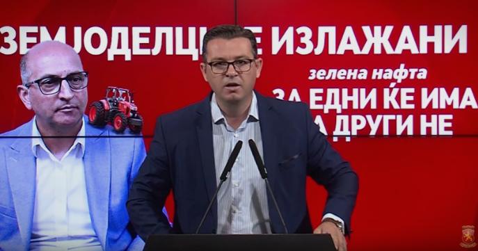 """Трипуновски: Мерката """"зелена нафта"""" ќе ја искористат само 55.000 земјоделци, а регистрирани се над 100.000- ова е само уште една лага на СДСМ"""
