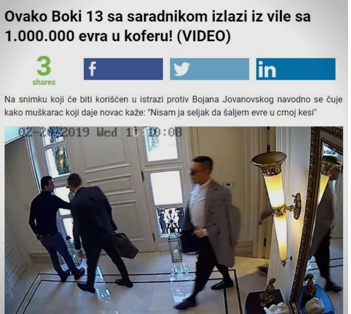 Целиот регион го пренесе рекетирањето на Боки 13: Италијанските медиуми во шок, српските зачудени како женска торба собра милион евра