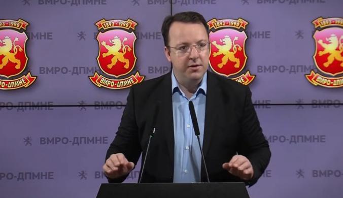 Николоски: Никој не сака да ја раздвои Македонија од Албанија затоа што Владата на Заев е покорумпирана и од таа на Рама