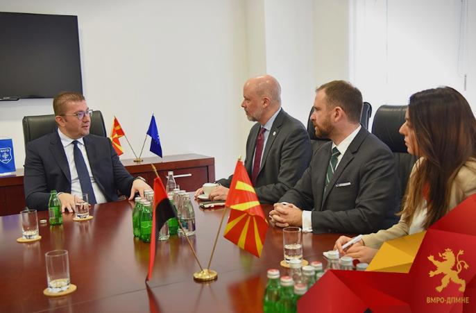 Мицкоски денеска оствари средби со директорот на ИРИ за Европа, регионалниот директор на НДИ, како и рускиот амбасадор