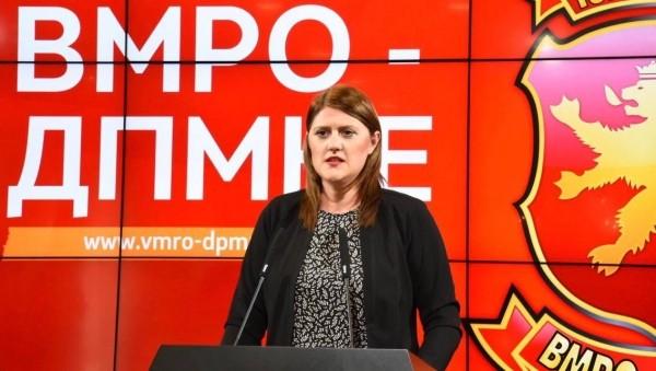 Стаменковска: Со измените на законот за административни службеници ќе се врши класичен поткуп на вработените во државната администрација пред изборите