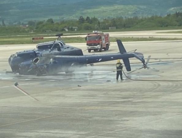Се урна хеликоптер на МВР (ФОТО)