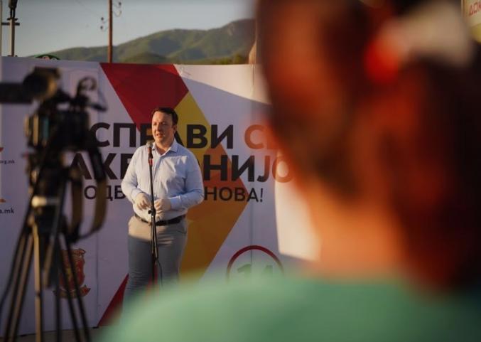 Николоски: Ветуваме економско зајакнување на државата, заштита на македонскиот национален идентитет и силна борба против корупцијата